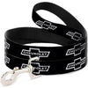 Dog Leash - 1965 CHEVROLET Bowtie Black/White