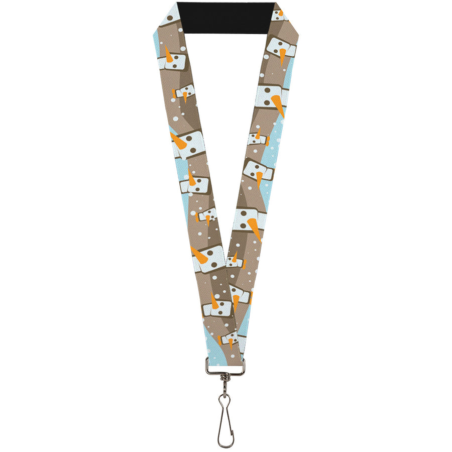"Lanyard - 1.0"" - Block Penguins Tan"