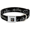 Friends Couch I'D RATHER BE WATCHING FRIEND THE TELEVISION SERIES Full Color Black/White/Multi Color Seatbelt Buckle Collar - Friends I'D RATHER BE WATCHING FRIEND THE TELEVISION SERIES Black/White/Multi Color