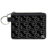 Canvas Zipper Wallet - MINI X-SMALL - Disney Signature D Logo Monogram Black Gray