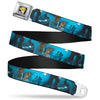 Cinderella CLOSE-UP Full Color Seatbelt Belt - Cinderella Ball Night Scenes Webbing