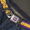 Bat Logo Full Color Purple Gold Seatbelt Belt - Batgirl Utility Belt Purple/Gold Webbing