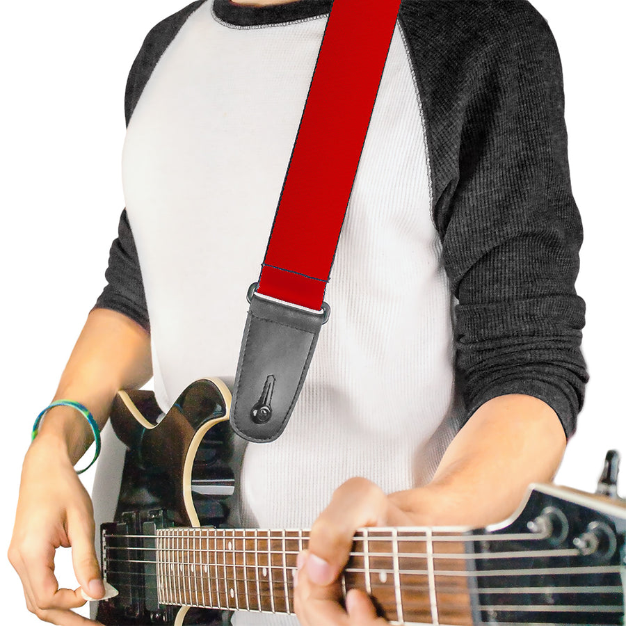 Guitar Strap - Christmas Red