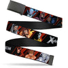 Black Buckle Web Belt - X-MEN Logo/13-Character Pose Blocks Black/Red/Silver Webbing
