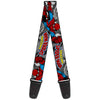 MARVEL COMICS Guitar Strap - THE AMAZING SPIDER-MAN Stacked Comic Books Action Poses