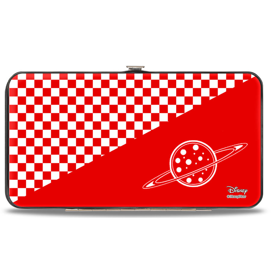 Hinged Wallet - Toy Story PIZZA PLANET SERVING YOUR LOCAL STAR CLUSTER + Checker Red White