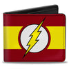 Bi-Fold Wallet - Flash Logo Stripe Red White Yellow