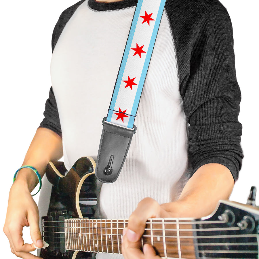 Guitar Strap - Chicago Flag