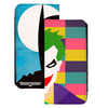 Canvas Snap Wallet -Joker Multi Color + Batman Blue White Juxtaposition