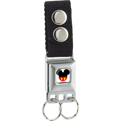 Keychain - Mickey Mouse Head w Body Fill Full Color White Black Red Yellow