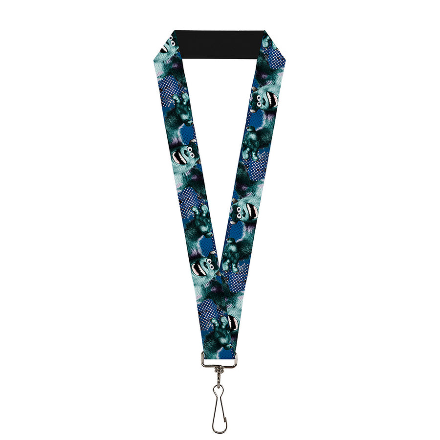 "Lanyard - 1.0"" - Sulley Scare Pose Dots Blues White"