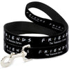 Dog Leash - FRIENDS-THE TELEVISION SERIES Logo Black/White/Multi Color