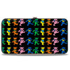 Hinged Wallet - Dancing Bears Black Multi Color