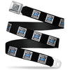 BUILT FORD TOUGH Logo2 Full Color Black White Blue Seatbelt Belt - BUILT FORD TOUGH Logo2 Black/White/Blue Webbing