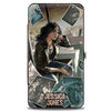 MARVEL UNIVERSE Hinged Wallet - JESSICA JONES Sitting Pose Scattered Photos