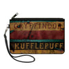 Canvas Zipper Wallet - LARGE - GRYFFINDOR & HUFFLEPUFF Burnt Banners