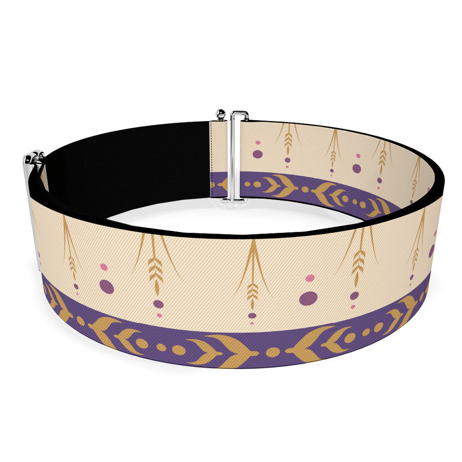 Cinch Waist Belt - Frozen II Anna Bounding Tan Purples Gold