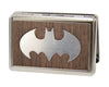 Business Card Holder - LARGE - Batman Marquetry Black Walnut Metal