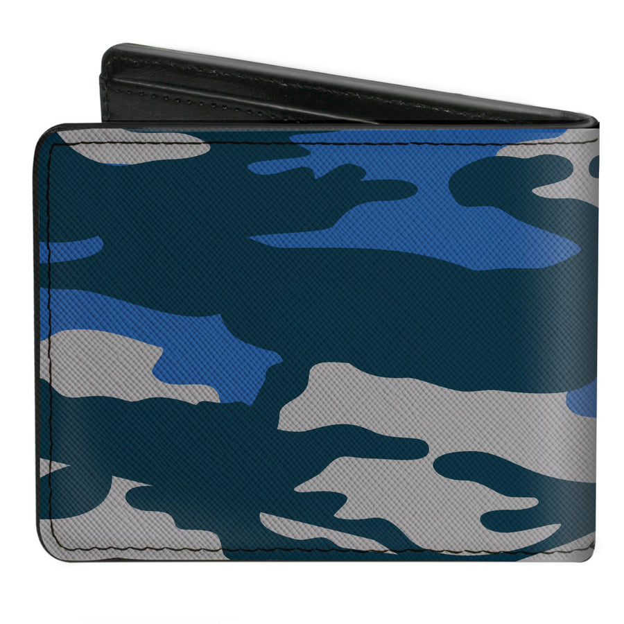 Bi-Fold Wallet - Harry Potter Ravenclaw Crest Camo Blues Grays