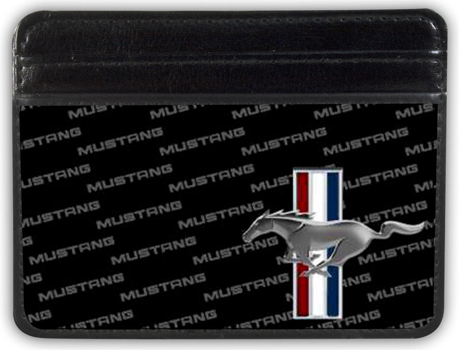 Weekend Wallet - Ford Mustang w Bars CORNER w Text