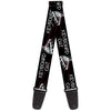 Guitar Strap - KEYBOARD CAT w Ray Eyes Black White Red