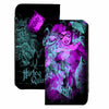Canvas Snap Wallet - HARLEY QUINN Pow Pose Joker Sketch Black Turquoise Fuchsia
