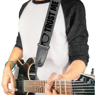 Guitar Strap - I'M A GEEK Glasses Gray Black