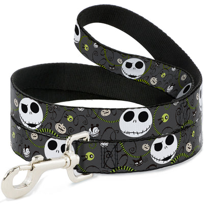 Dog Leash - NBC Jack Expressions/Halloween Elements Gray