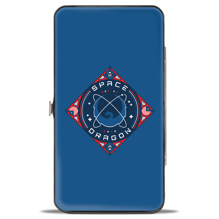 Hinged Wallet - SPACEX DRAGON Dragon Blues Reds White
