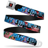 Harley Quinn Diamond Full Color Black Red Seatbelt Belt - Catwoman/Harley Quinn/Poison Ivy Pillow Fight Webbing
