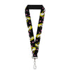 "Lanyard - 1.0"" - Sleeping Beauty Heart of Darkness Poses Roses Black Gray Pinks"