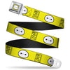 Baymax Face Full Color Yellow Black White Seatbelt Belt - BAYMAX Hanko/Face Yellow/Black/White Webbing