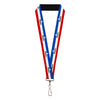 "Lanyard - 1.0"" - MOPAR Logo Stripe Blue White Red"