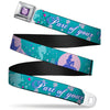 Princess Gem CLOSE-UP Full Color Purple Seatbelt Belt - Little Mermaid Silhouette Scenes PART OF YOUR WORLD Blues Webbing