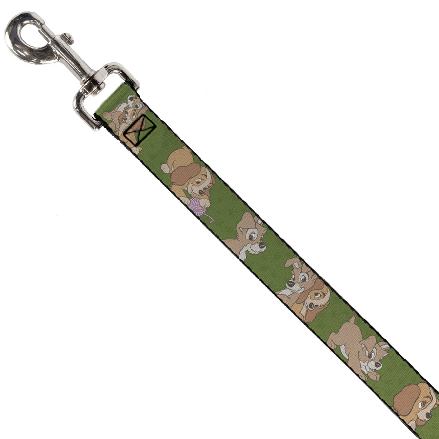 Dog Leash - Lady and Tramp 6-Poses Olive Green