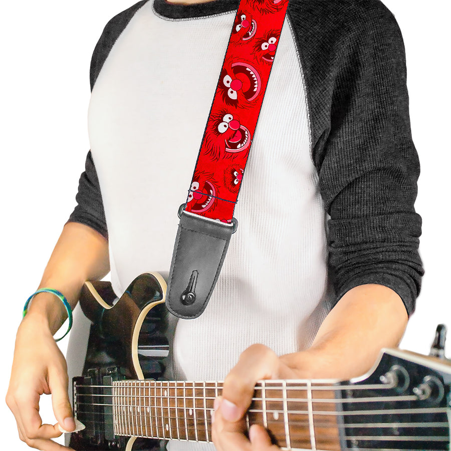 Guitar Strap - Animal Expressions Scattered Reds