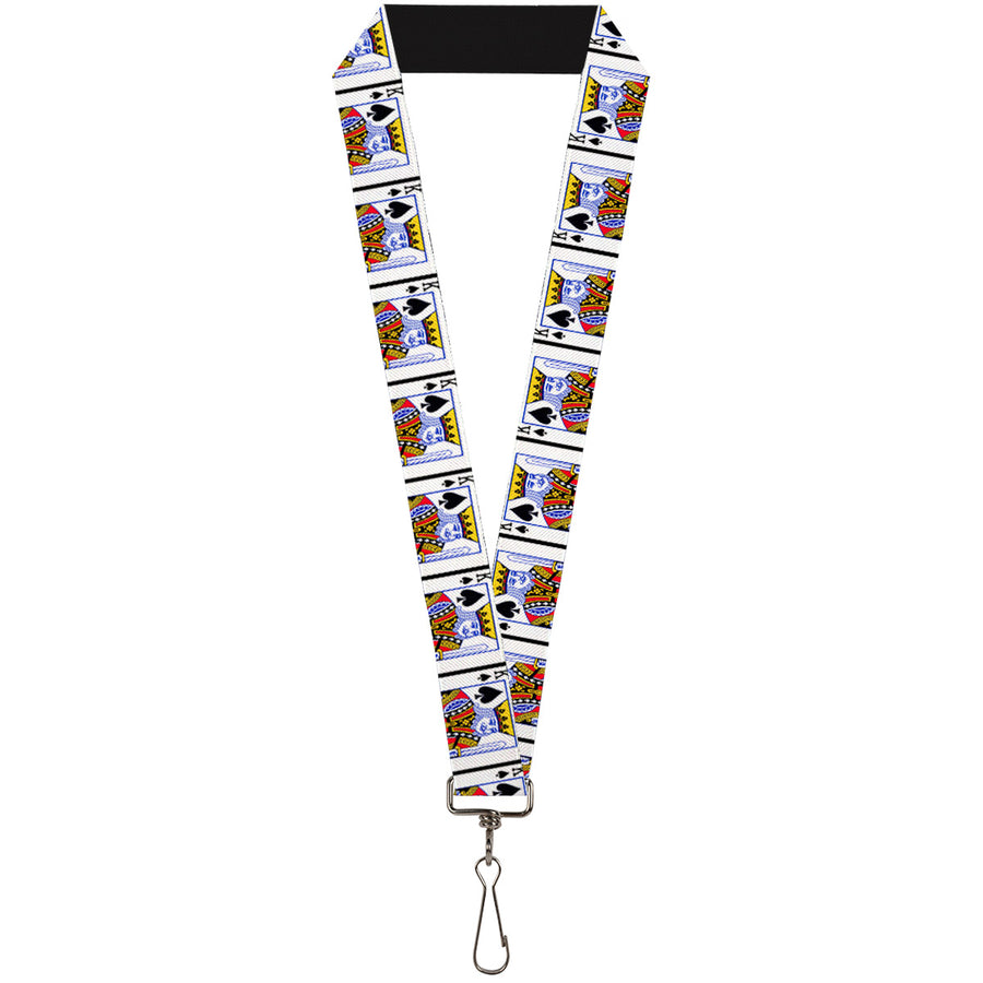 "Lanyard - 1.0"" - King of Spades"