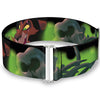 Cinch Waist Belt - Scar & 3-Hyena Poses Elephant Graveyard CLOSE-UP Greens Yellows