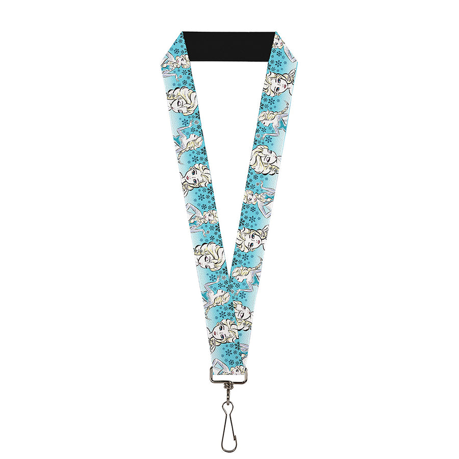 "Lanyard - 1.0"" - Anna Snowflakes Frozen Art Collection Poses"