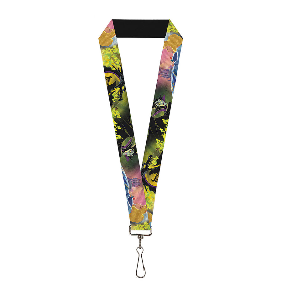 "Lanyard - 1.0"" - Sleeping Beauty & Maleficent Maleficent Dragon Scenes"