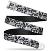 Grumpy Cat Face Full Color Black Seatbelt Belt - Grumpy Face Stacked Webbing