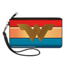 Canvas Zipper Wallet - SMALL - Wonder Woman 2017 Icon Stripe Red Golds Blue