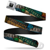 Harry Potter Logo Full Color Black/White Seatbelt Belt - Hogwarts House Banners & Logos Webbing