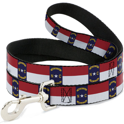 Dog Leash - North Carolina Flag Continuous Repeat