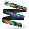 Cars Speedometer Icon Full Color Black Blue Glow Seatbelt Belt - Cars Lineup NEON SPEED/Skyline Webbing