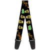 Guitar Strap - Chasing Scooby Snacks Black