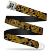 SD Dog Tag Full Color Black Yellow Blue Seatbelt Belt - Scooby Doo Stacked CLOSE-UP Black Webbing