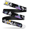 Princess Gem CLOSE-UP Full Color Yellow Seatbelt Belt - Villains Hexing Princess' Scenes Color/Black/White Webbing