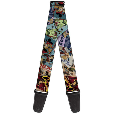 Guitar Strap - 8-DC Bombshell Comic Book Covers Stacked