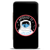 Hinged Wallet - APOLLO 11-FIRST MAN ON THE MOON Black White Red Blues
